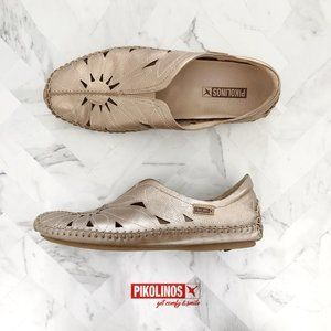 PIKOLINOS Jerez Perforated Leather Flat Size 39